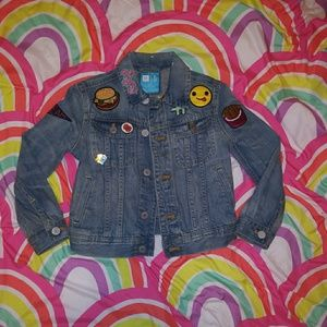 Grls custom denim jacket